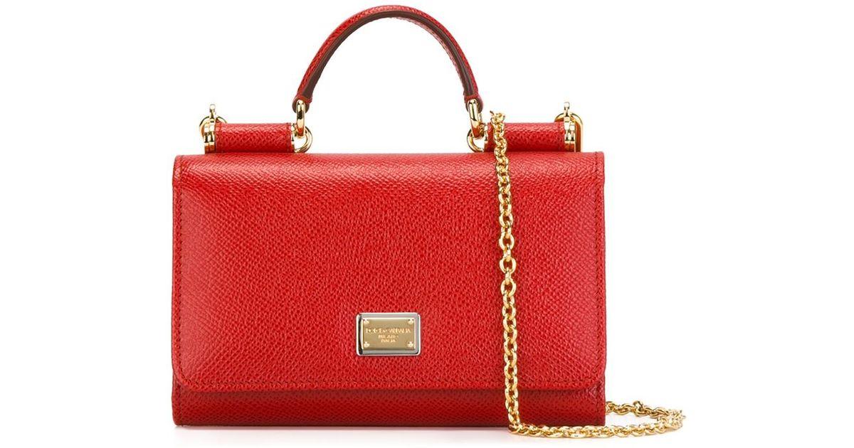 6c9dbe75793 Dolce & Gabbana Mini 'von' Wallet Crossbody Bag in Red - Lyst