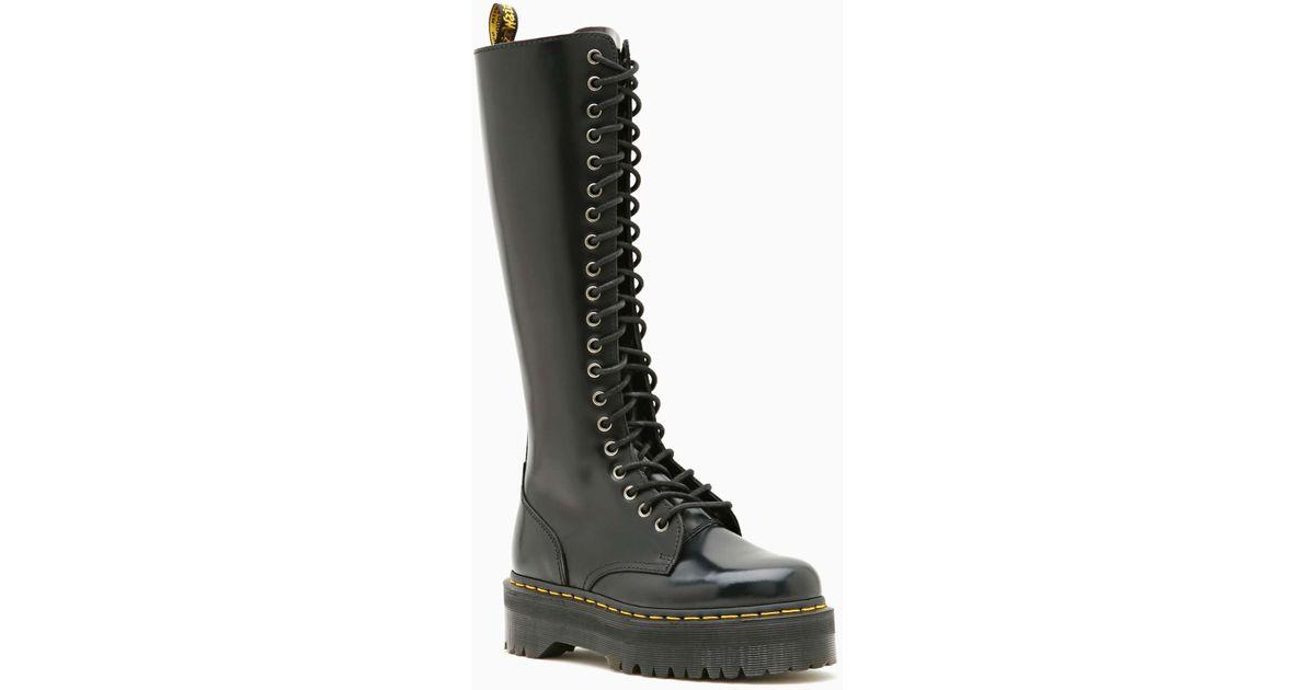 dd01027f62f Lyst - Nasty Gal Dr Martens Britain 20 Eye Boot in Black