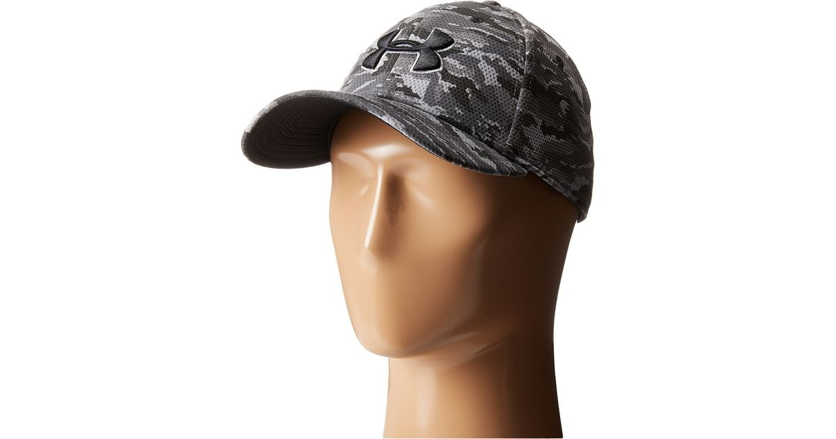 87bbd5898f5 Lyst - Under Armour Ua Print Blitzing Stretch Fit Cap in Black for Men