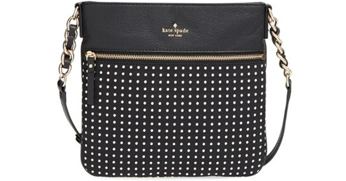 Lyst Kate Spade New York Cobble Hill Dot Ellen Crossbody Bag In Black