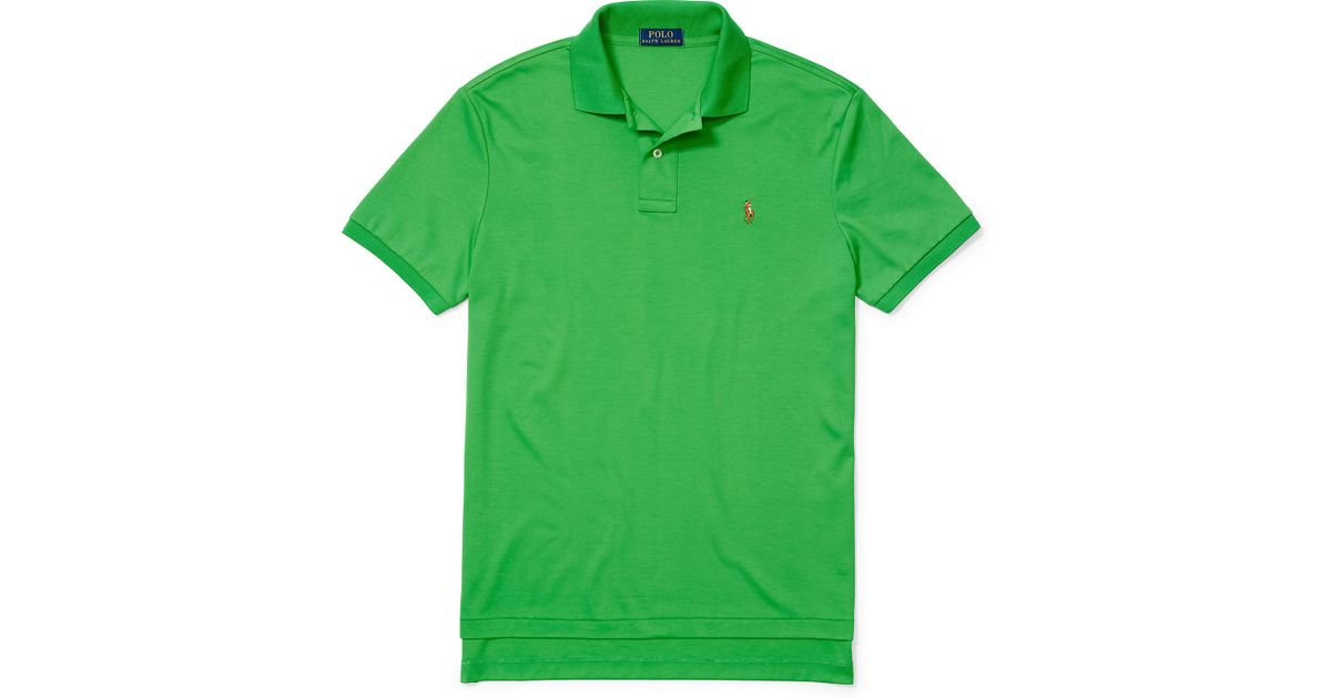 fd5344d3 ... coupon code for cheapest lyst polo ralph lauren pima soft touch polo  shirt in green for