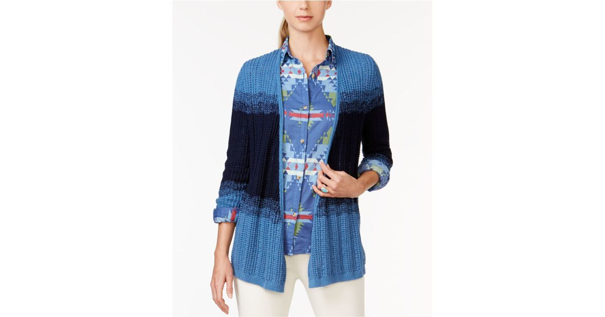 American Living Colorblock Waterfall Cardigan Only At