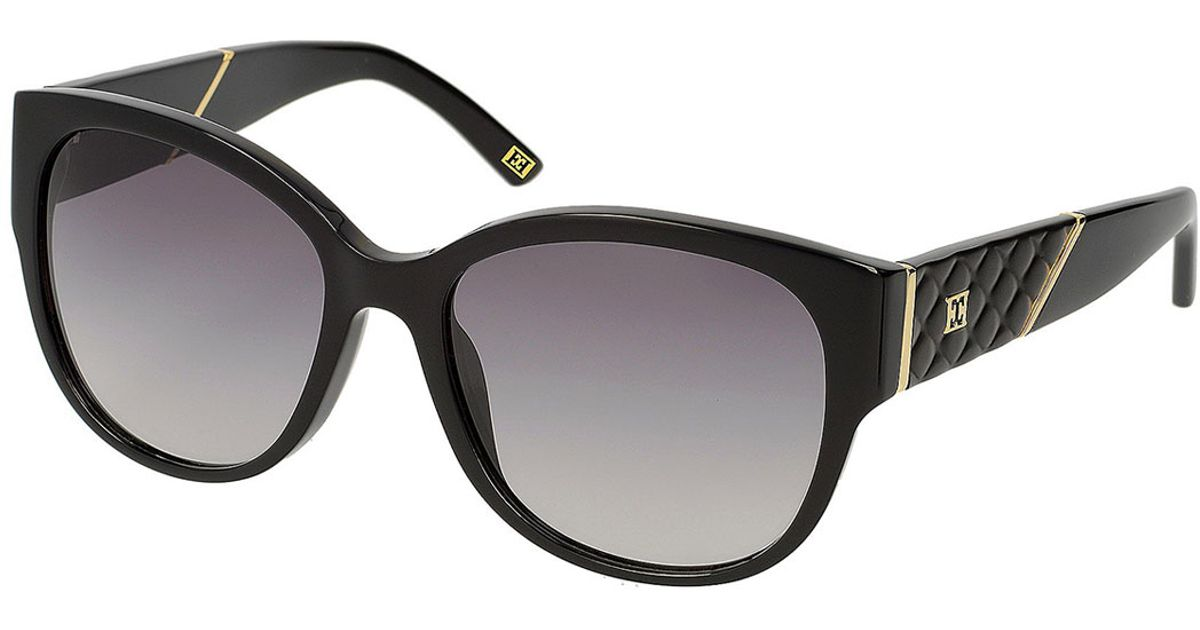 569c210497 Lyst - ESCADA Modified Round Gradient Sunglasses in Black