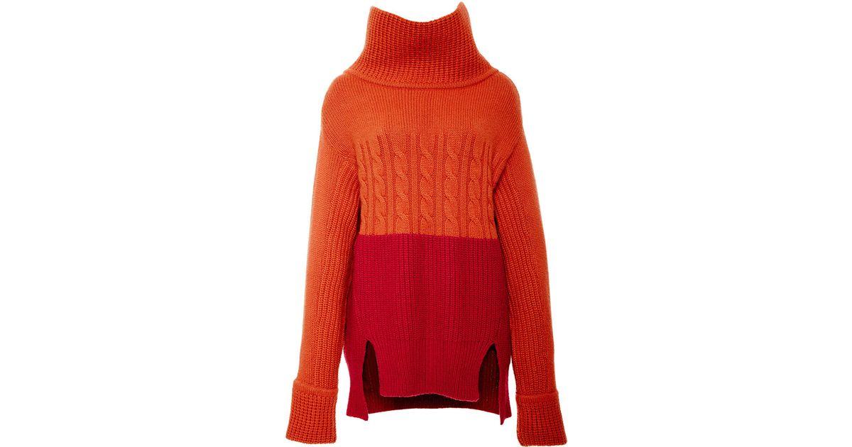 Lyst - Prabal Gurung Color Block Turtleneck Sweater In Red Lyst - Prabal Gurung Color Block Turtleneck Sweater in Red Red Things red color block
