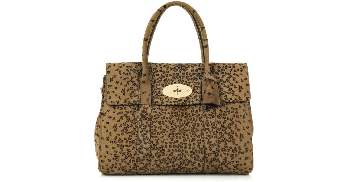 bc6180e8e1ce Mulberry Bayswater Leopard-print Bag - Lyst