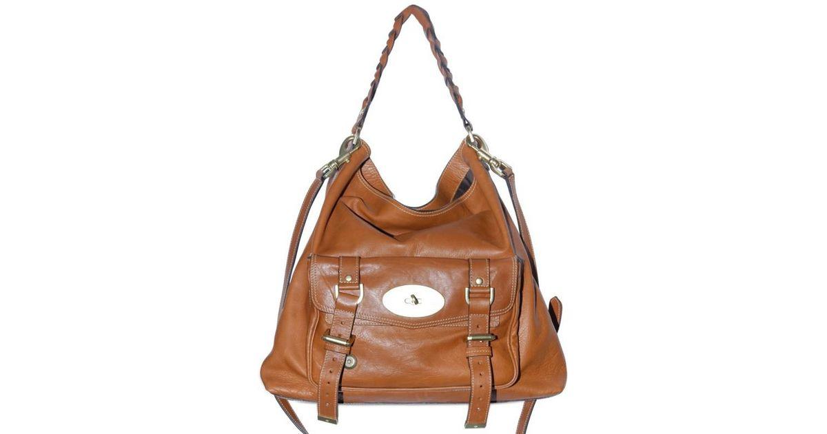 fcb877ea898b ... usa lyst mulberry alexa hobo bag in brown bb5cf 990b6