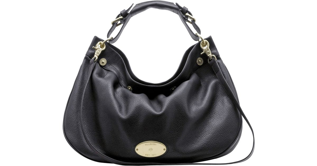 0bb37fe546 Mulberry Mitzy East West Hobo Bag in Black - Lyst