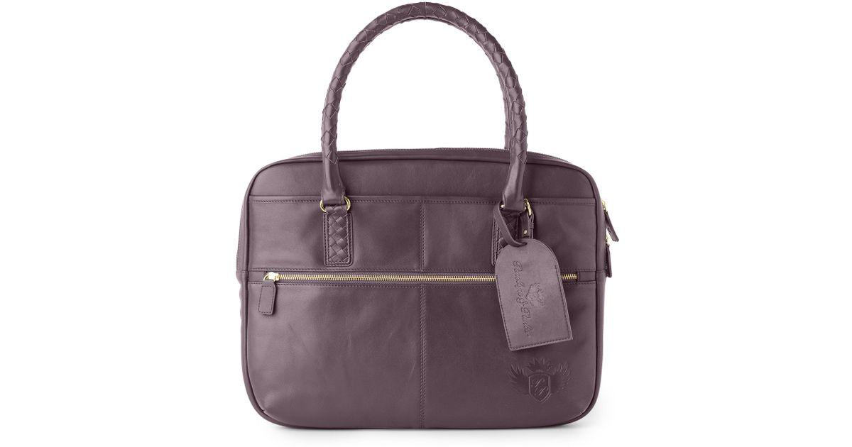 8c50ecf9b99 Penelope   Parker Layla Large Zip Laptop Bag in Gray - Lyst
