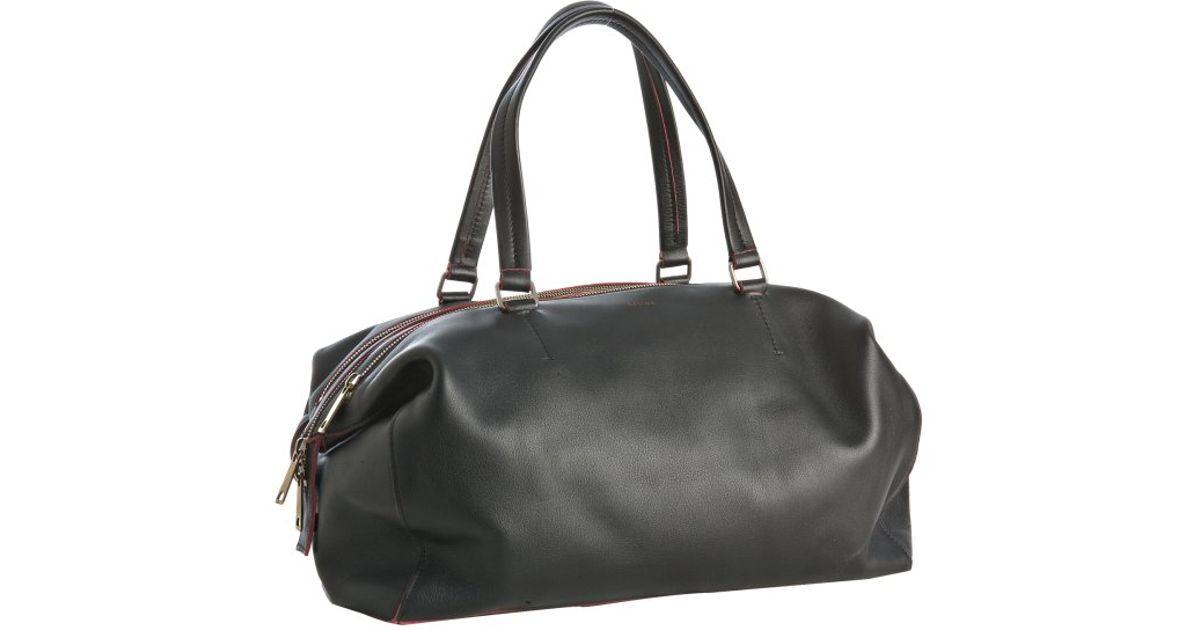 C��line Black Leather Medium Duffel Bag in Black | Lyst