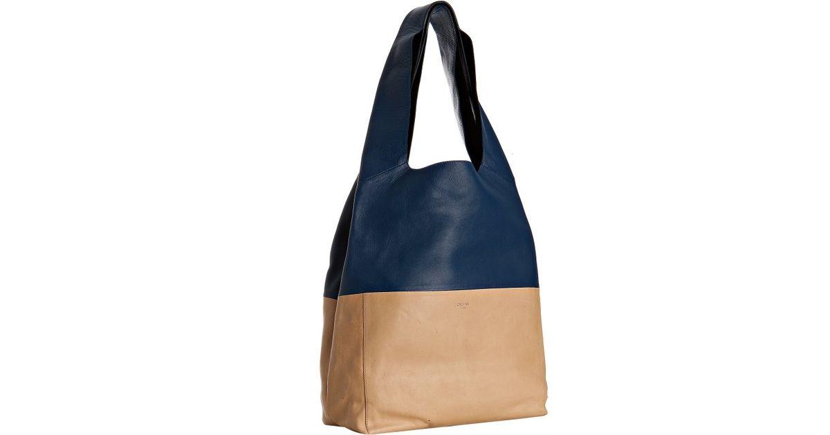 celine authentic purses - celine navy blue leather shoulder bag