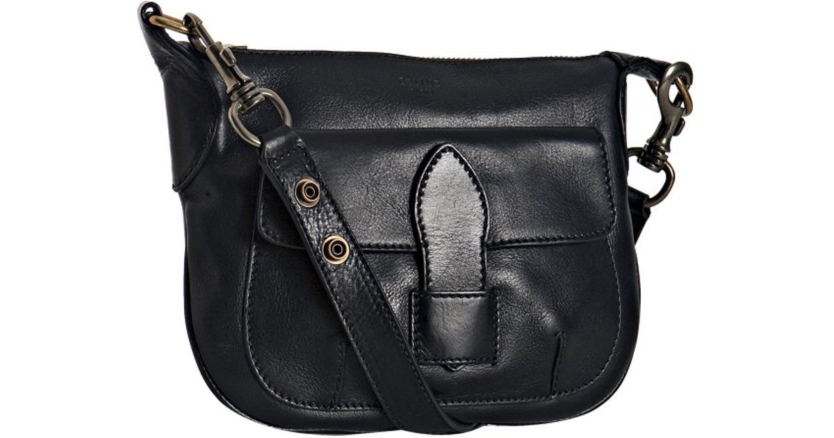C¨¦line Navy Leather Small Shoulder Bag in Blue (navy) | Lyst