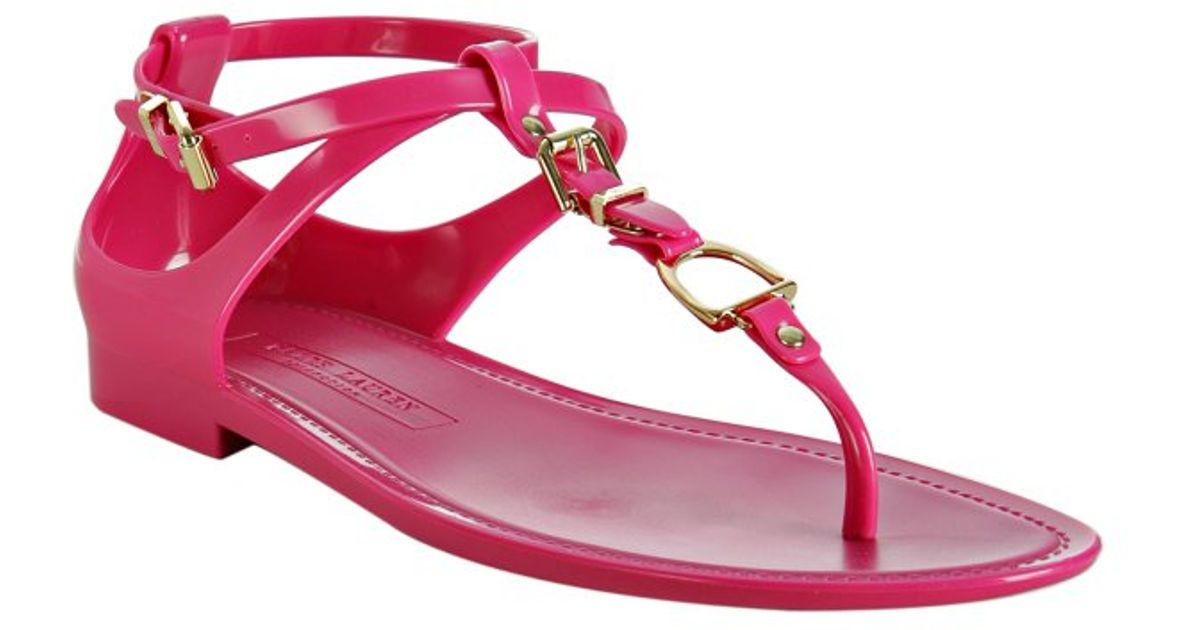 fbdecd6524a3 Ralph Lauren Collection Fuchsia Karly Jelly Thong Sandals in Pink - Lyst