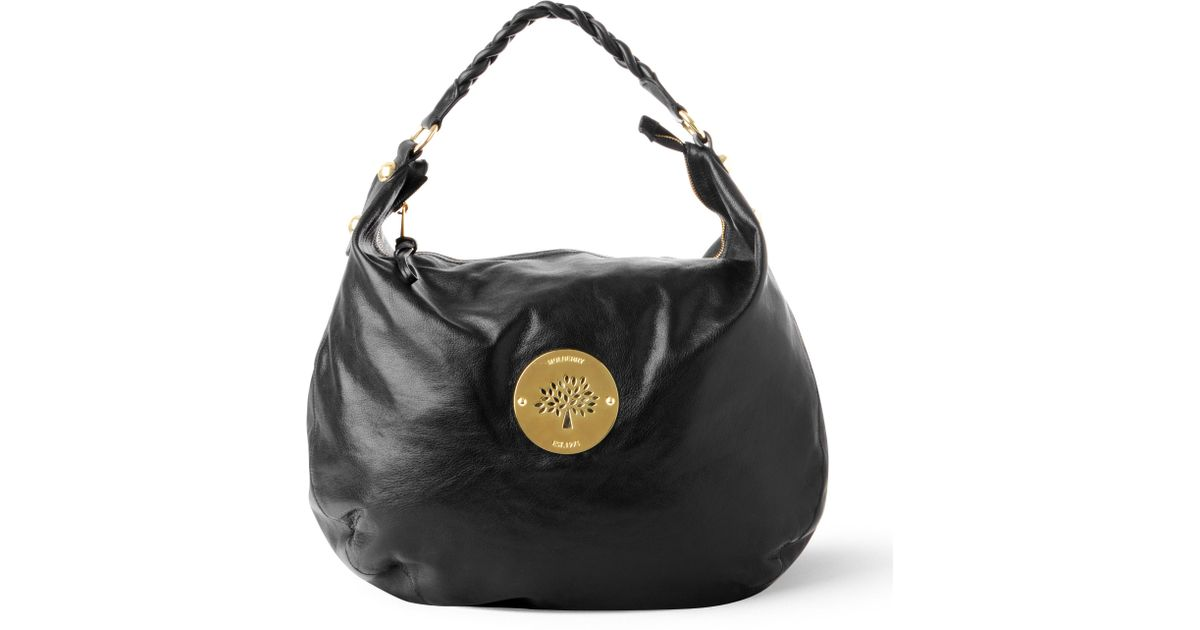 9e525ad1a413 Mulberry Daria Hobo Bag in Black - Lyst