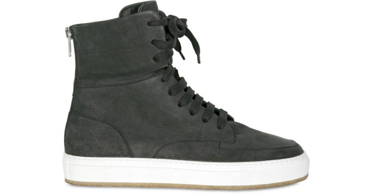 Lyst - Kris Van Assche Nubuck High Top Sneakers in Black for Men 5a8dc8cf7