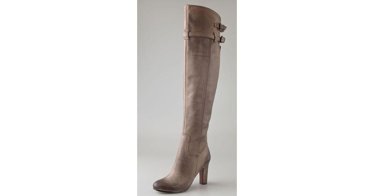 769f61c5299e Lyst - Sam Edelman Sutton Over The Knee Boots in Gray