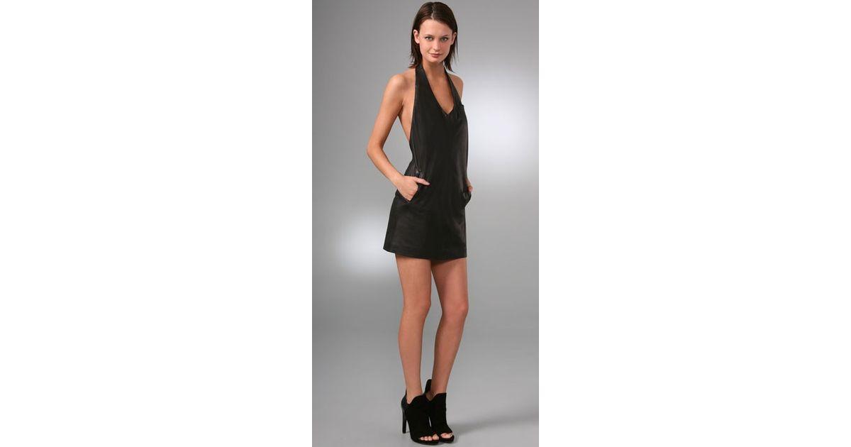 short halter black dresses