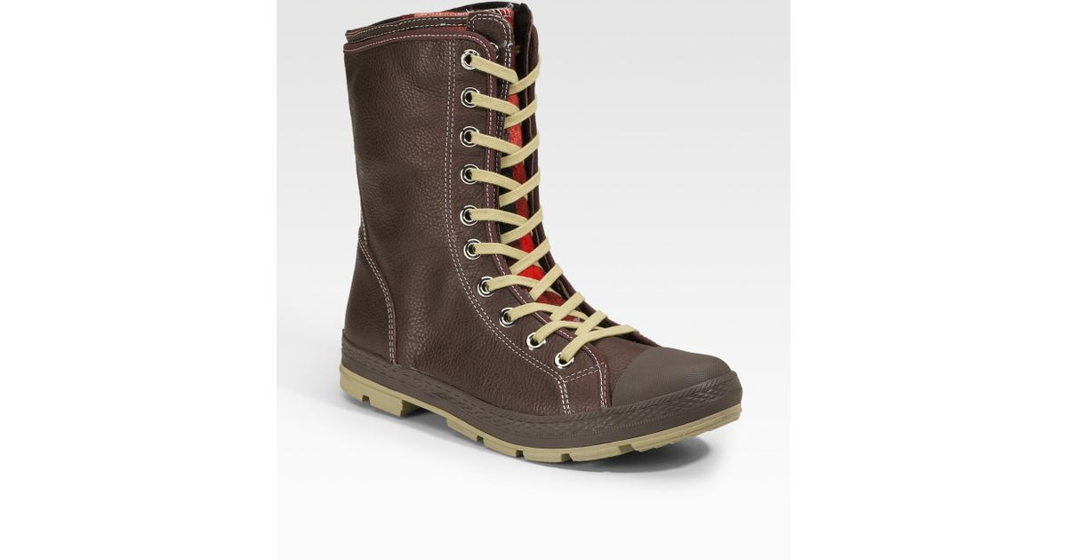 8b211eb595b1 Lyst - Converse Chuck Taylor Woolrich Outsider Boots extra-high in Brown  for Men