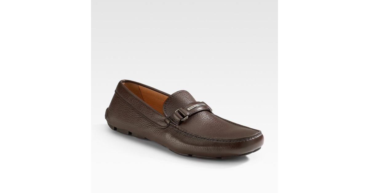 Loafers & Slippers - Drive Logo Loafers Leather Talco - beige - Loafers & Slippers for ladies Prada 2BR4TLw7