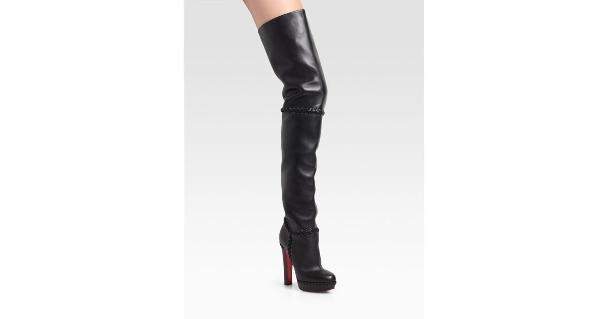 d512e4035e5c8 Lyst - Christian Louboutin Tres Contente Thigh-high Boots in Black