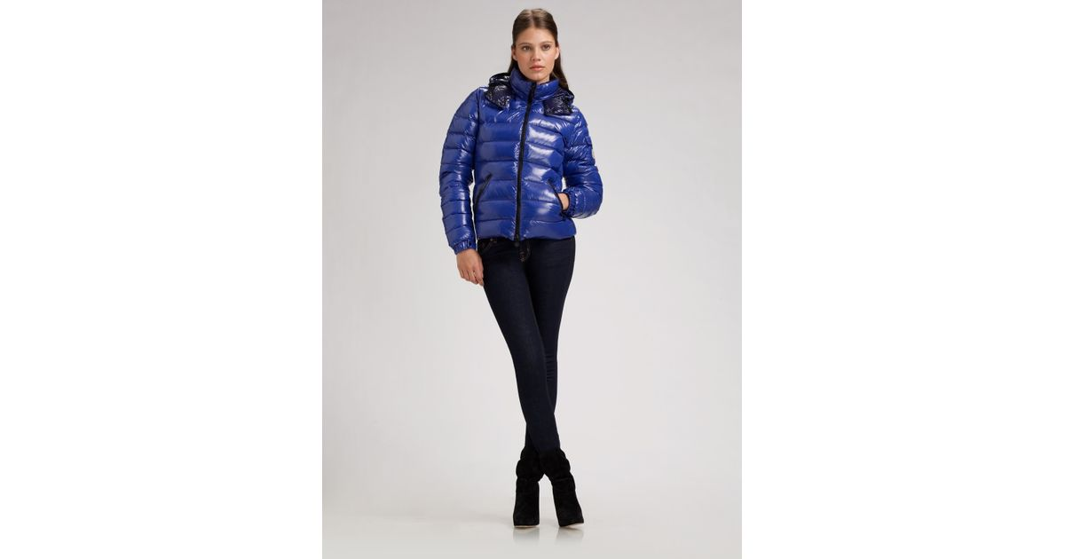 45154324f Lyst - Moncler Bady Hooded Down Jacket in Blue