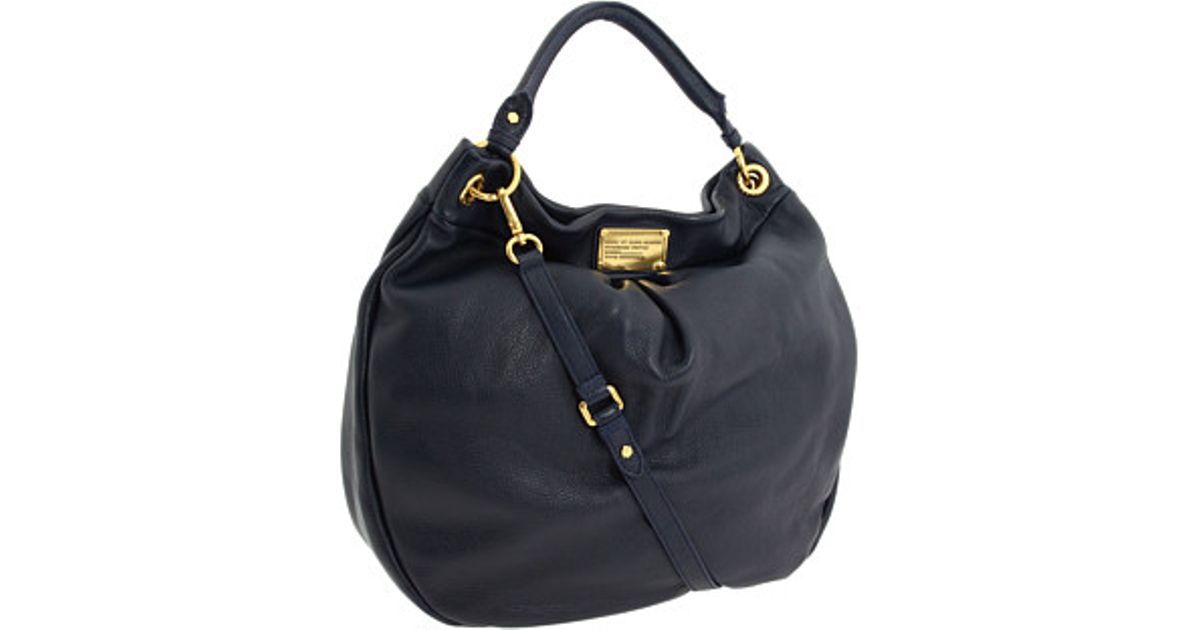 7ef5586e122 Lyst - Marc By Marc Jacobs Classic Q Huge Hillier Leather Hobo in Blue