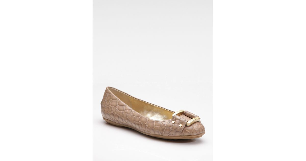9c350025a7ec Lyst - Jimmy Choo Morse Leather Ballet Flats in Natural