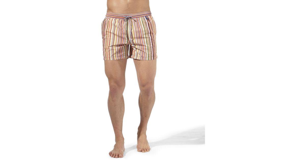 66858e1637 Paul Smith Classic Multi Stripe Swim Shorts for Men - Lyst