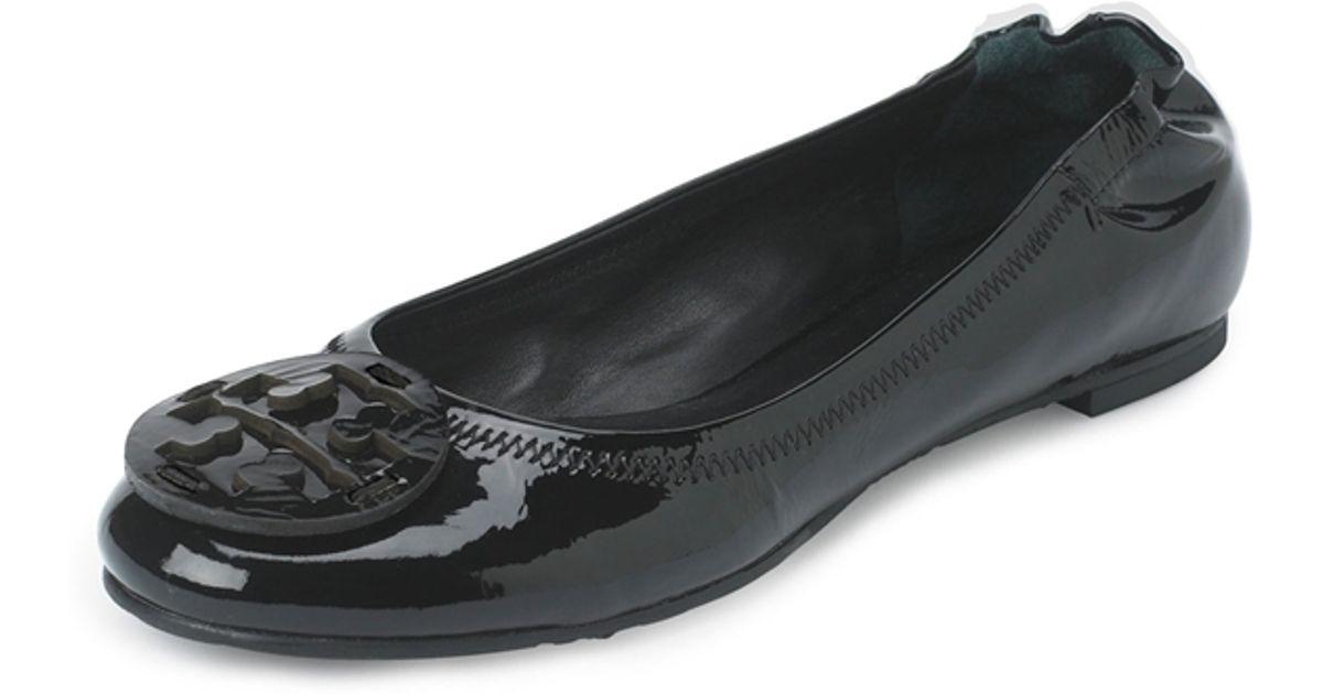 204e90f58 ... denmark lyst tory burch reva patent ballet flats in black 22512 d9813  ...