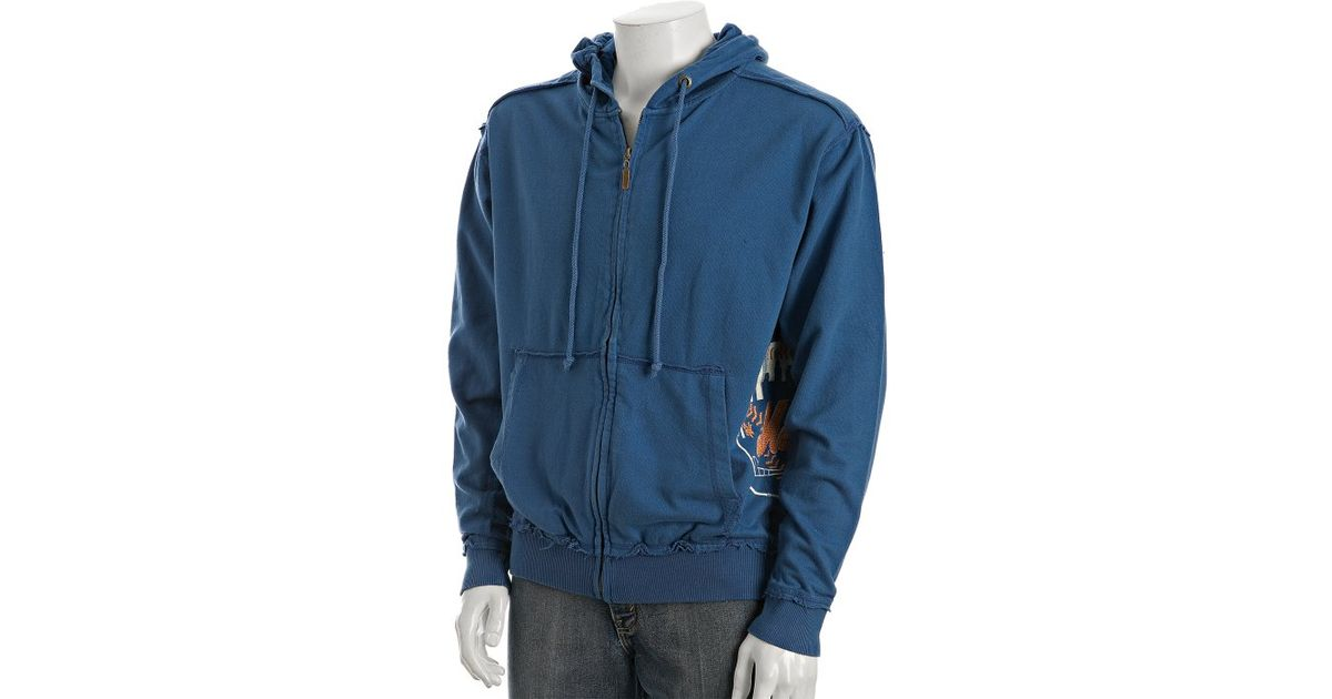 quality design 6d8c9 5eaa6 Red Jacket - Royal Blue Jersey Mets Zip Front Hoodie for Men - Lyst
