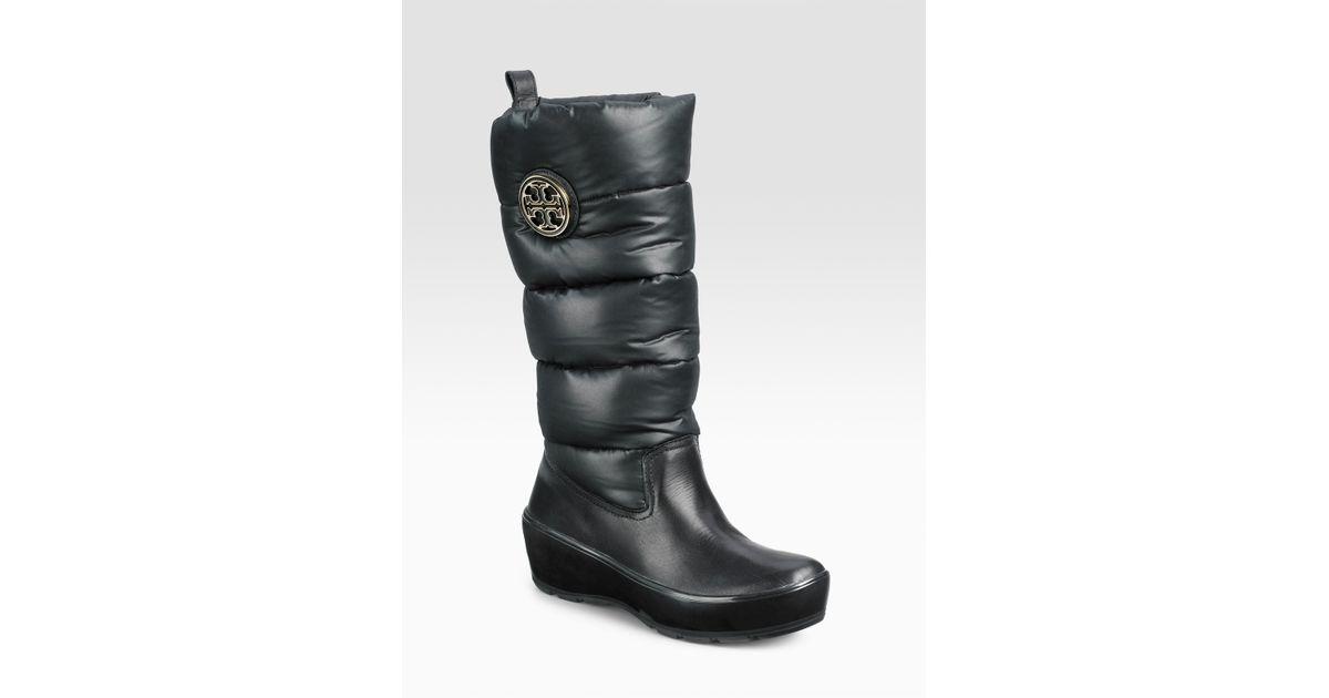 c29c0472212 Lyst - Tory Burch Puffer Boots in Black