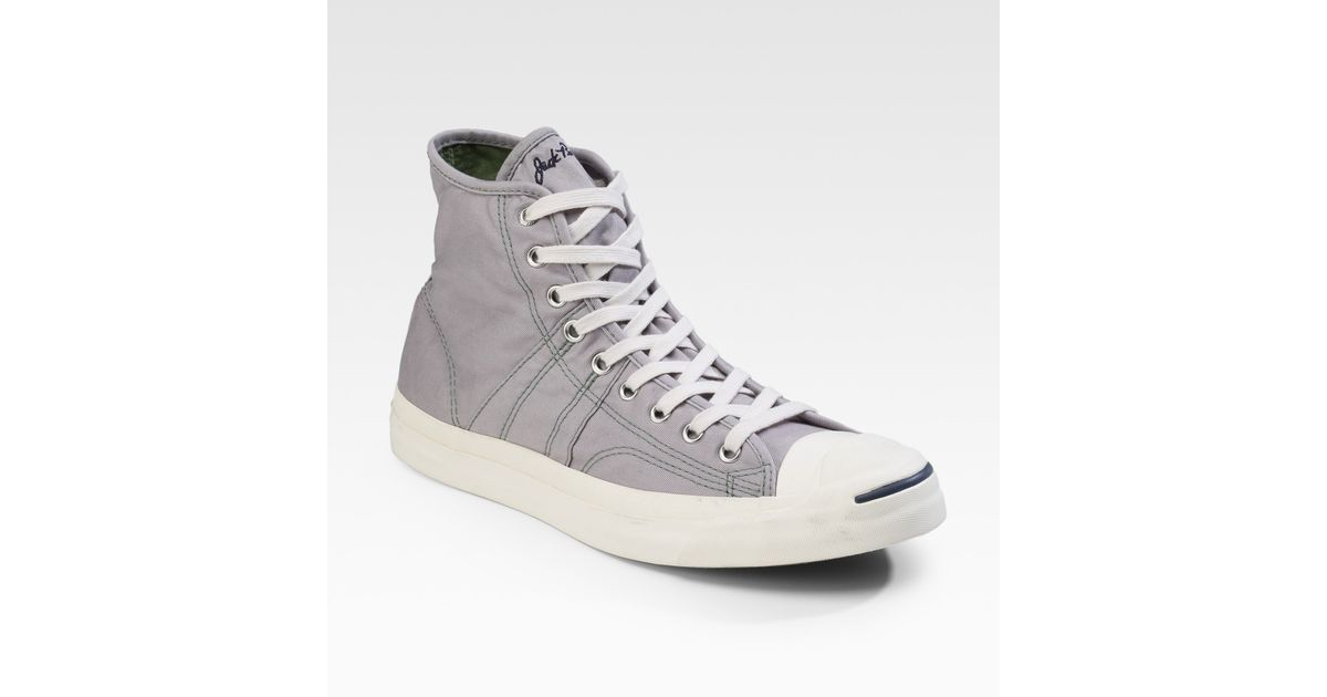 6f0a5fa4491cde Lyst - Converse Jack Purcell Johnny High-tops in Gray for Men