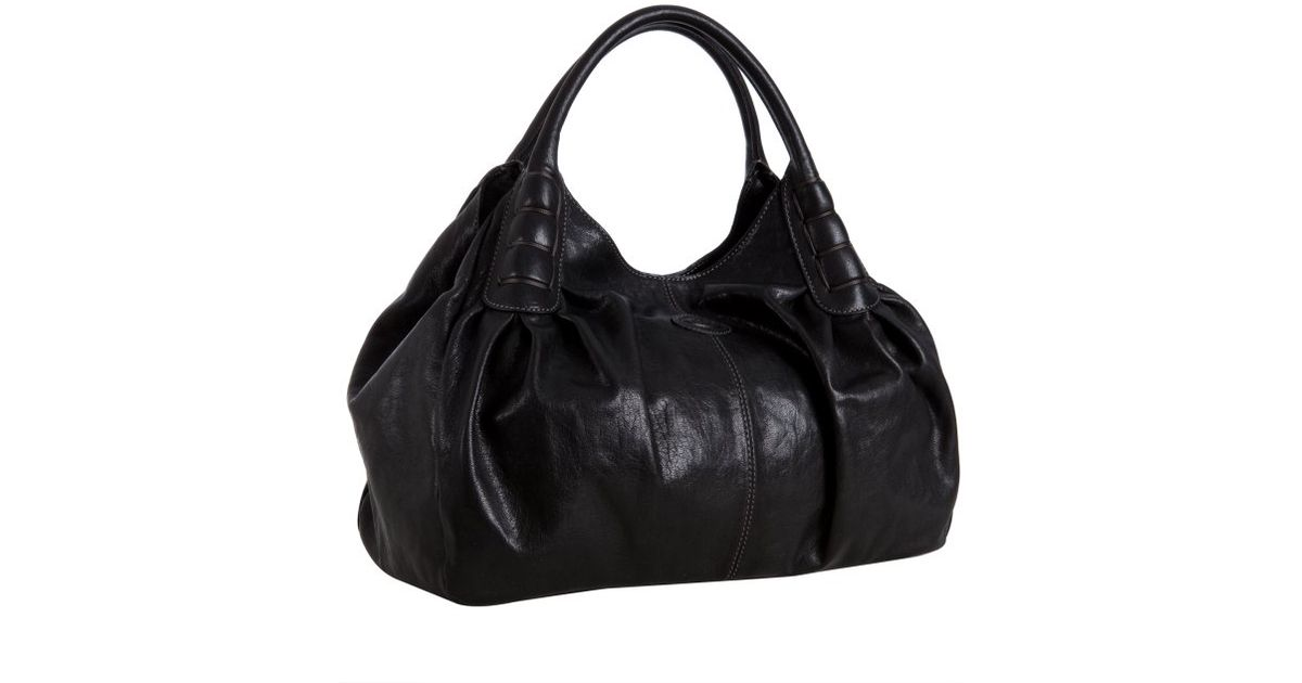 92967498d73f Lyst tods black leather ivy sacca media shoulder bag in black jpeg 1200x630  Sacca black