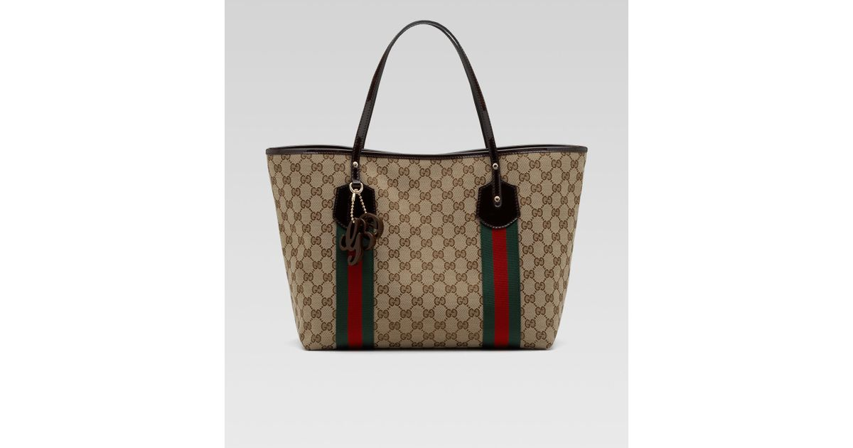 d4cb6667ed6 Lyst - Gucci Jolie Large Tote in Natural