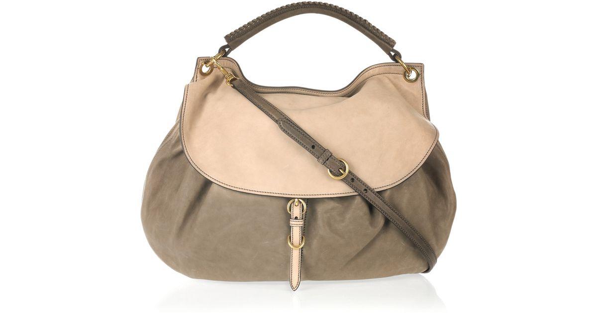 795d6fd3f03a handbags 5BE896 FVJ F0424 V OOO Loading Source · Lyst Miu Miu Leather Hobo  Bag in Gray