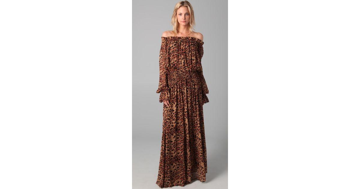 dfed25a2cf Lyst - Rachel Zoe Panther Print Maxi Dress