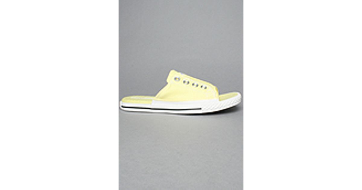 42ee66a3741c Lyst - Converse The Chuck Taylor All Star Cut Away Sandal in Lemonade in  Yellow for Men