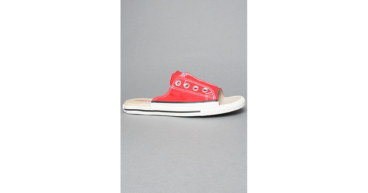 Lyst - Converse The Chuck Taylor All Star Cutaway Sandal in Varsity Red in  Red for Men b72e56b85
