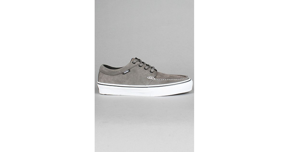 d5624fc5ea Lyst - Vans The 106 Moc Sneaker in Pewter Suede in Gray for Men