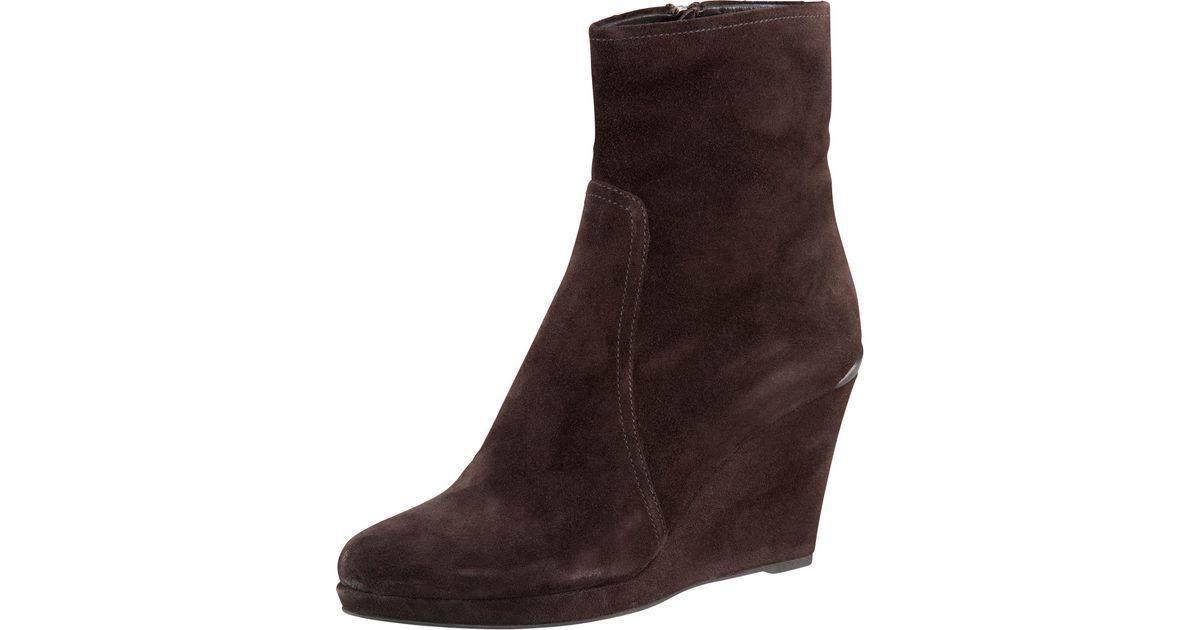 23bd1421062 Prada - Brown Wedge Ankle Boot - Lyst