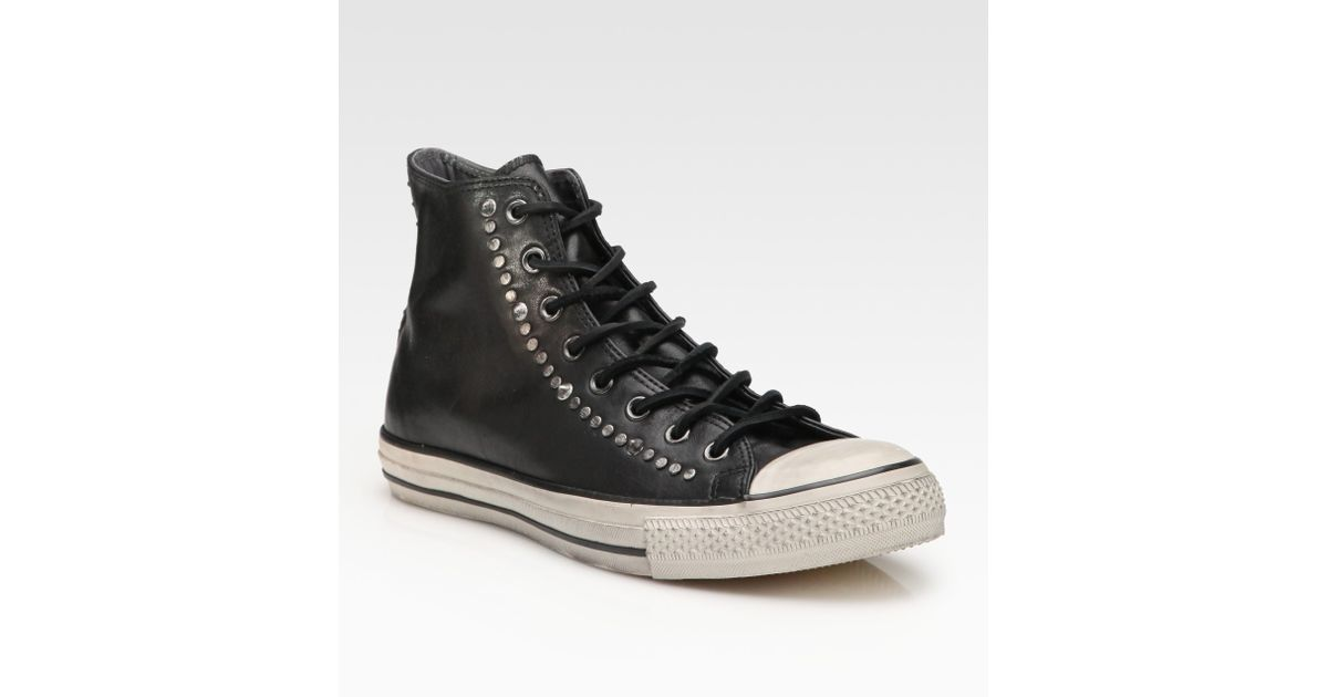 ... Lyst - Converse John Varvatos Studded Leather High-tops in Black for  Men buy popular ... c42a089e2