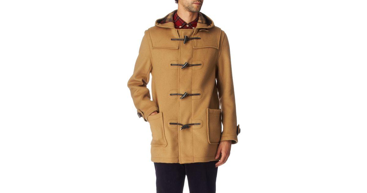 Gloverall Duffle Coat in Brown for Men | Lyst