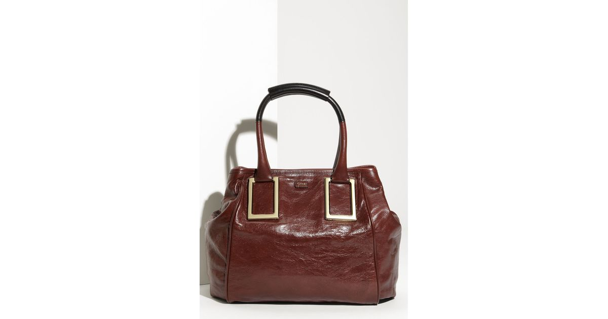 Chlo¨¦ Ethel - New Leather Tote in Brown (moka/black) | Lyst