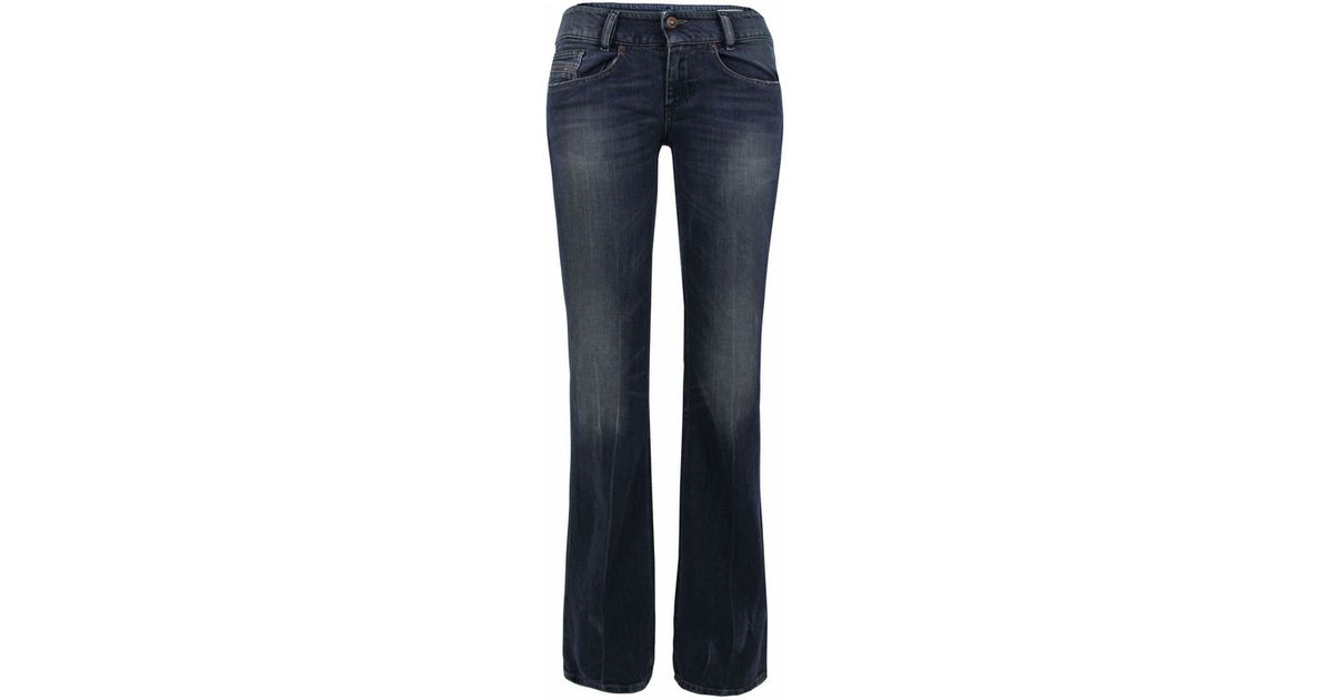 bffa8694 DIESEL Louvely Slim Bootcut Faded Denim Jeans in Blue - Lyst