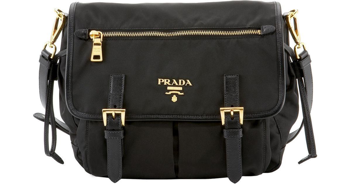 ... canada lyst prada tessuto saffiano messenger in black 7aeb7 db764 spain prada  tessuto nylon messenger bag ... 9b6aa3a3f5