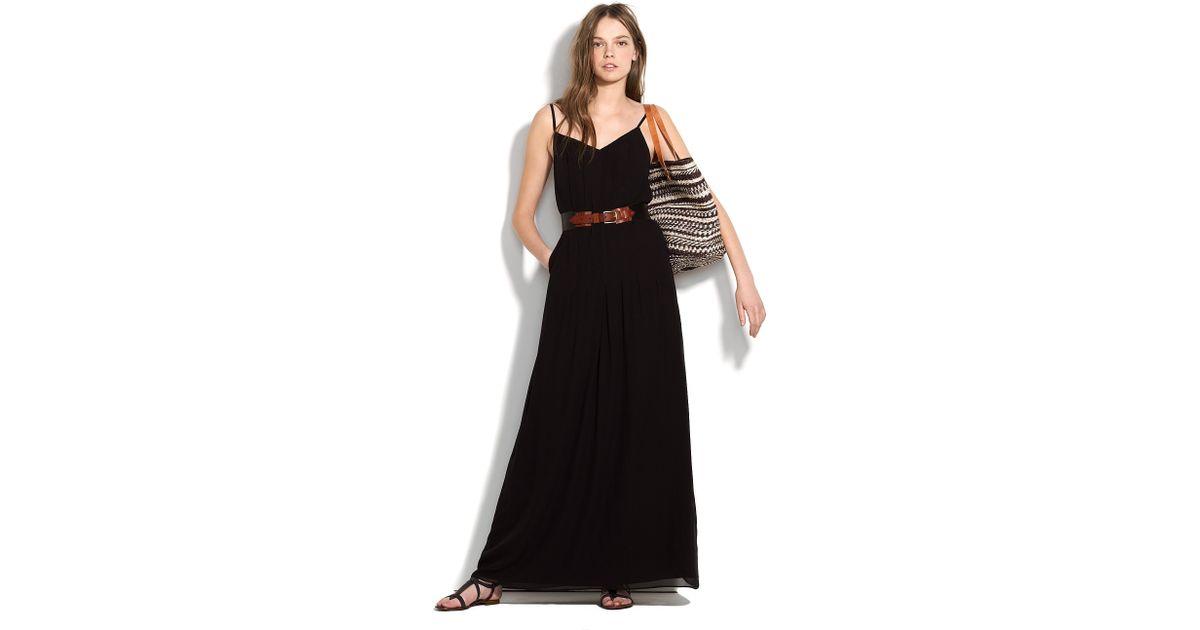 Lyst Madewell Silk Maxidress In Black