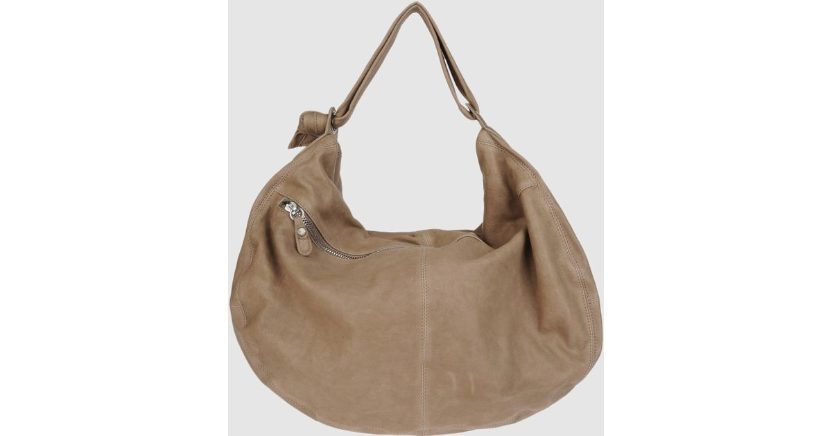 dfc197f181062 Lyst - Sissi Rossi Large Leather Bag in Natural
