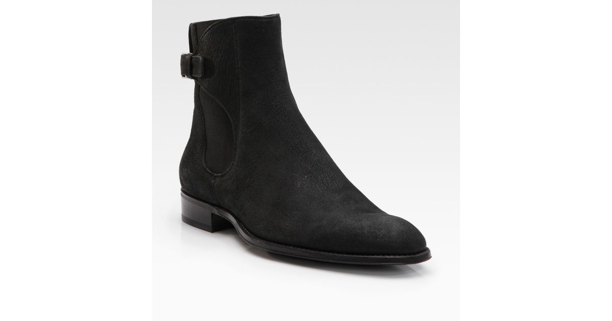 d1b7e347a38 Lyst - Dior Homme Buffalo Leather Ankle Boots in Black for Men