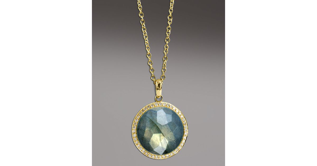Lyst ippolita labradorite pendant necklace in blue mozeypictures Choice Image