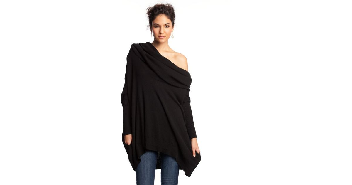 Autumn cashmere Black Cashmere Oversized Cowl Neck Sweater in ...