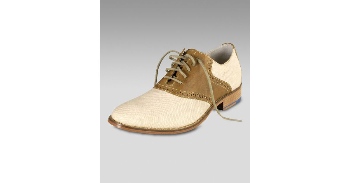 9a67859dca4 Cole Haan Air Colton Saddle Oxford, Cream/brown in Natural for Men - Lyst